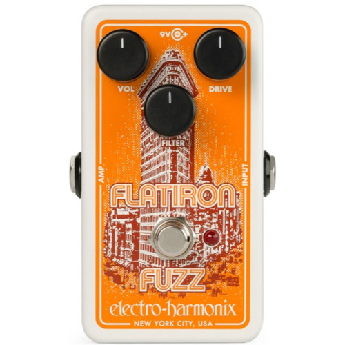 Electro-Harmonix Flatiron Fuzz Distortion Effects Pedal (FLATIRON)