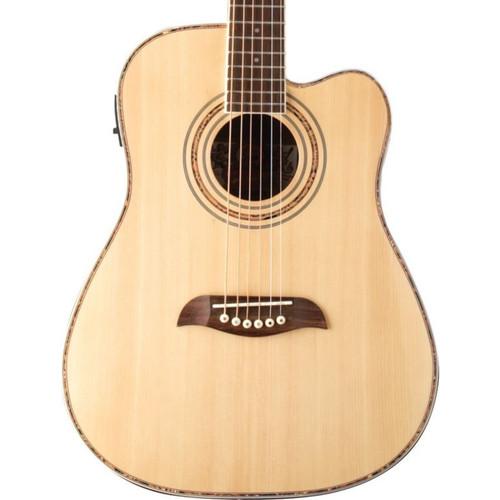 Oscar Schmidt OG1CE Student 3/4 Size Dreadnought Acoustic Electric Guitar, Natural (OG1CE)