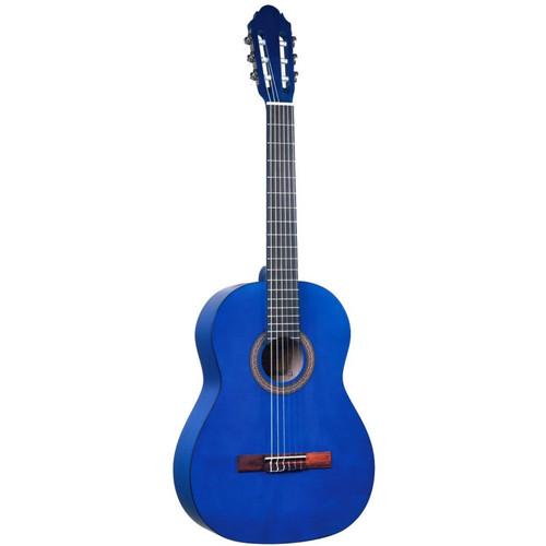 Lucida LG-400 Student Classical Nylon String Acoustic Guitar, Matte Blue (LG-400-BL)