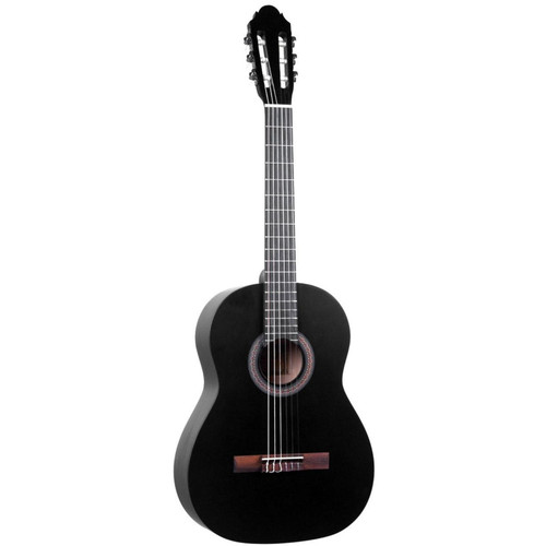 Lucida LG-400 Student Classical Nylon String Acoustic Guitar, Matte Black (LG-400-BK)