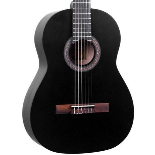 Lucida LG-400-1/2 Student Classical Nylon String Acoustic Guitar, Matte Black (LG-400-1/2BK)