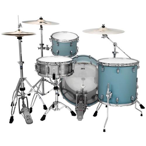 "Ludwig L24023TX3R NeuSonic 3-Piece Drum Shell Pack, 20"" Bass Drum, Skyline Blue (L24023TX3R)"