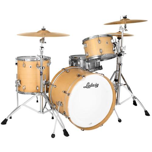 """Ludwig L24023TX3Q NeuSonic 3-Piece Drum Shell Pack, 20"""" Bass Drum, Sugar Maple (L24023TX3Q)"""