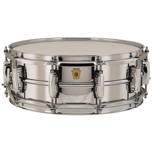 "Ludwig LB400B Supraphonic Chrome-Over-Brass 5""x 14"" Snare Drum, Imperial Lugs (LB400B)"