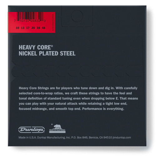 Dunlop DHCN1048 Heavy Core Nickel Wound Electric Guitar Strings, Heavy 10-48 (DHCN1048)