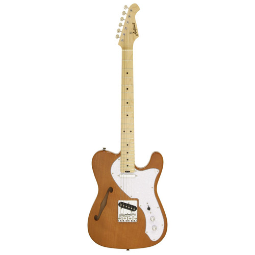 Aria Pro II 615-TL Modern Classic Semi-Hollow Body Electric Guitar, Natural (615-TL)