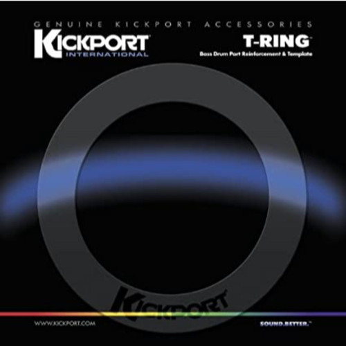 KickPort TRGCL T-Ring Bass Drum Hole Reinforcement Ring, Clear (TRGCL)