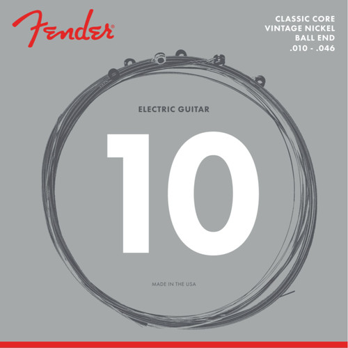 Fender 155R Classic Core Vintage Nickel Ball End Electric Guitar Strings, .010-.046 (073-0155-406)