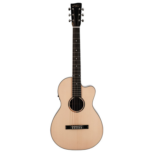 Recording King RP-G6-CFE5 Solid Top Single 0 Cutaway Acoustic Electric Guitar, Natural (RP-G6-CFE5)