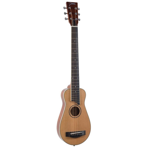 Johnson JG-TR7 Trailblazer II Acoustic Travel Guitar with Gig Bag, Natural (JG-TR7)