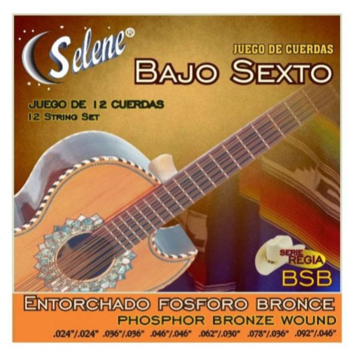 Paracho Elite BS950BR Phosphor Bronze 12-String Bajo Sexto Guitar Strings (BS950BR)