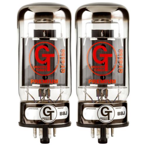 Groove Tubes GT-6550-R Medium Duet Amplifier Tubes, (Model # 5550113477) (GT-6550-R MED DUET)