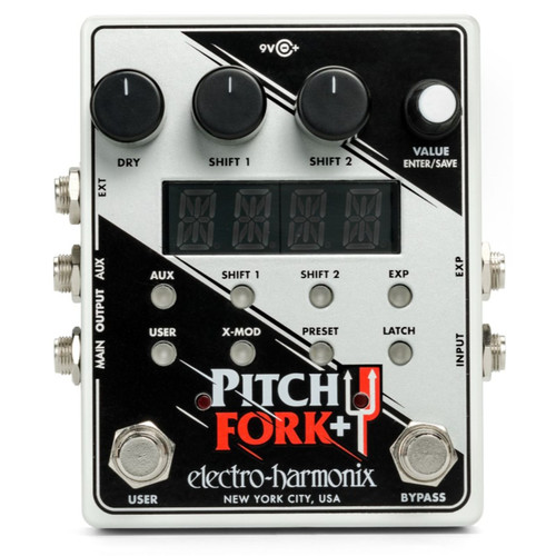 Electro-Harmonix Pitch Fork Plus Polyphonic Pitch Shifter/Harmony Effects Pedal (FORKPLUS)