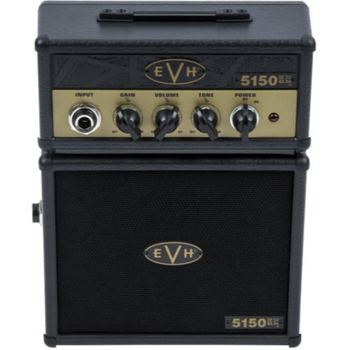 Eddie Van Halen EVH 5150 III EL34 Micro Stack Electric Guitar Amplifier, Black and Gold (022-3534-100)