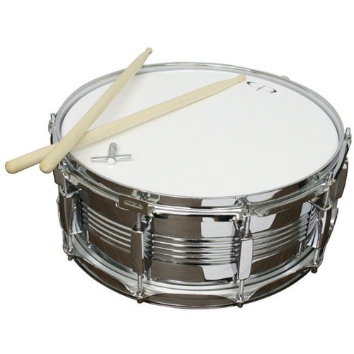 "GP Percussion SDC201 Metal Shell Snare Drum with Sticks, 5.5"" x 14"" (SDC201)"