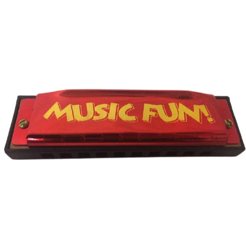 Hohner Music Fun 10-Hole Diatonic Harmonica, Key of C, Red (HOH-MF)