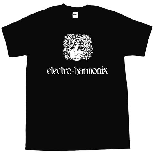 EHX Electro-Harmonix Ram's Head Logo T-Shirt, Black, Size Medium (EHX-TSHRT-MED)
