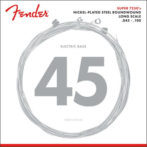 Fender 7250ML Nickel-Plated Steel Long Scale Bass Guitar Strings, Medium Light 45-100 (073-7250-405)