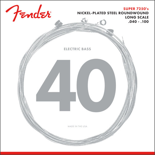 Fender 7250L Nickel-Plated Steel Long Scale Bass Guitar Strings, Light 40-100 (073-7250-403)