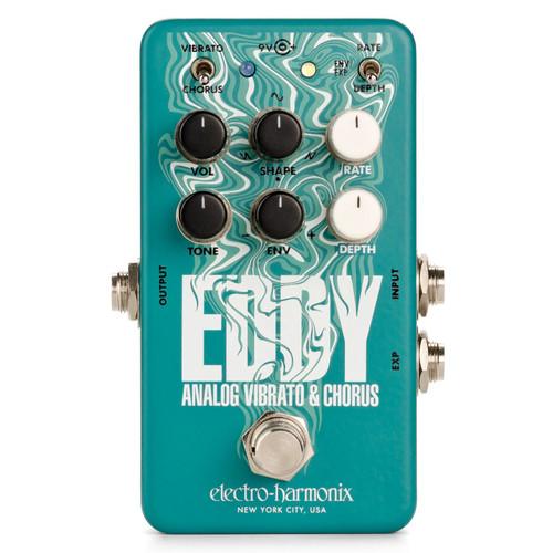 Electro-Harmonix EDDY Analog Vibrato and Chorus Effects Pedal (EDDY)