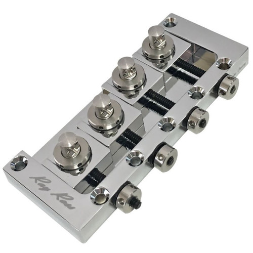 Ray Ross RRB4C Saddle-Less 4-String Electric Bass Guitar Bridge, Chrome (RRB4C)