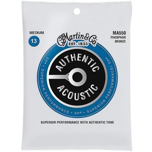 Martin MA550 Acoustic SP Phosphor Bronze Guitar Strings, Medium (MA550)