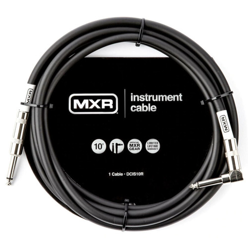 MXR DCIS10R Standard Straight to Right Angle Guitar and Instrument Cable, 10 ft.