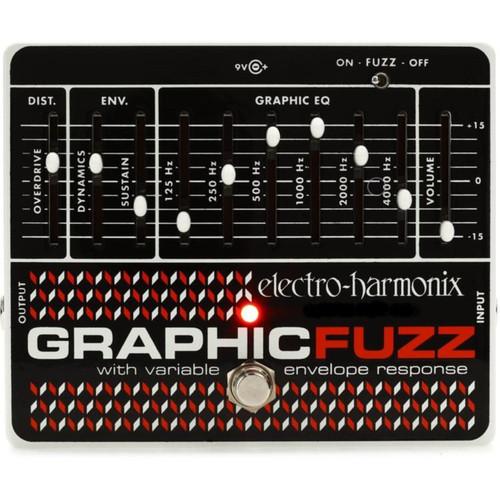Electro-Harmonix Graphic Fuzz EQ/Distortion/Sustainer Effects Pedal (GRAPHIC FUZZ)