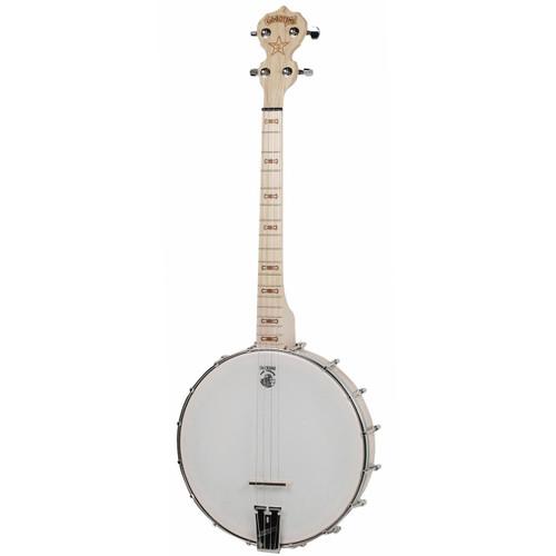 Deering Goodtime 17-Fret Tenor 4-String Open Back Banjo, Natural Blonde Maple (GDT-G17)