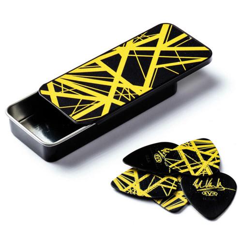 Dunlop EVHPT04 EVH VH II Pick Tin with Max Grip .60mm Guitar Picks, 6-Pack (EVHPT04)