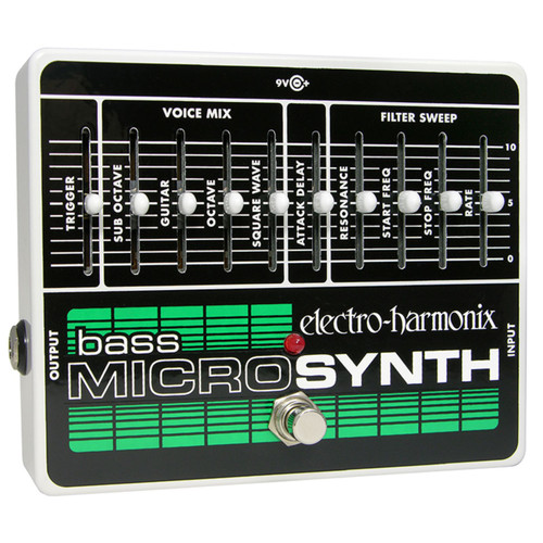 Electro-Harmonix Bass Micro Synthesizer Analog Microsynth Effects Pedal (BASSMICRO)