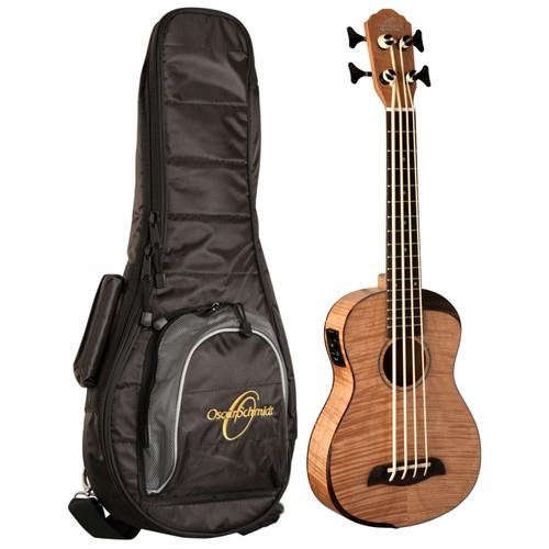 Oscar Schmidt OUB800K Comfort Series Acoustic Electric Bass Ukulele with Gig Bag, Natural (OUB800K)