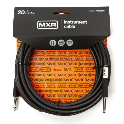 MXR DCIS20 Standard Series 20 ft. Straight Instrument Cable, Black (MXR-DCIS20)