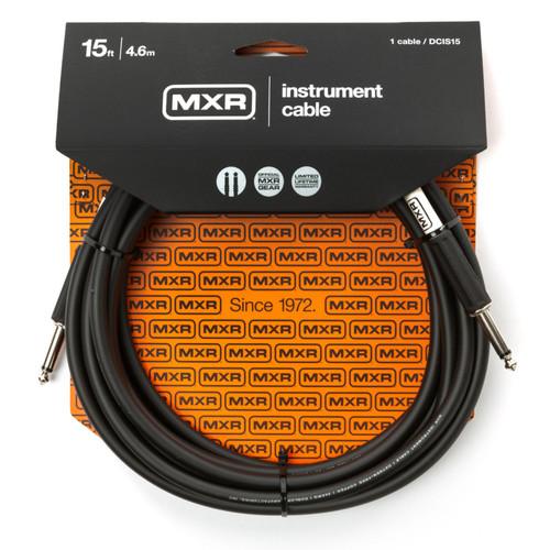 MXR DCIS15 Standard Series 15 ft. Straight Instrument Cable, Black (MXR-DCIS15)