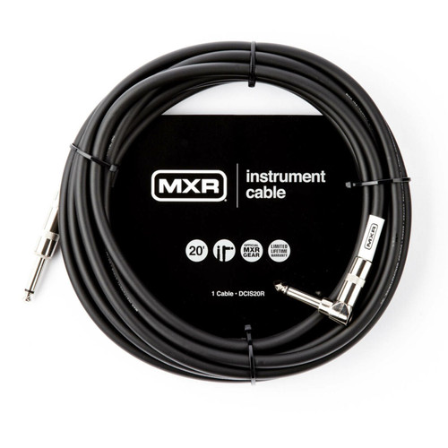MXR DCIS20R Standard Series 20 ft. Straight to Right Angle Instrument Cable, Black (MXR-DCIS20R)