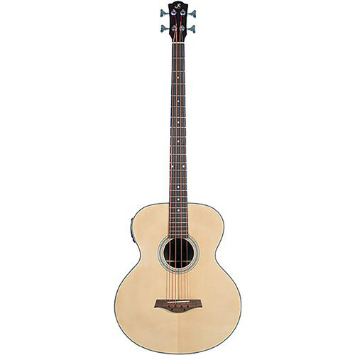 J. Reynolds JR1000 4-String Acoustic Electric Bass Guitar, Natural