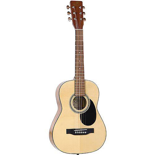 """J Reynolds JR12S 34"""" Student 1/2 Size Steel String Acoustic Guitar with Gig Bag, Natural"""