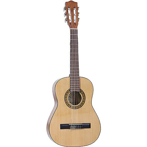 "J Reynolds JR12N 34"" Student 1/2 Size Nylon String Classical Acoustic Guitar with Gig Bag, Natural"
