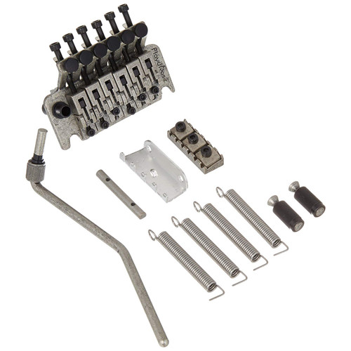 Floyd Rose FRTS6000LR2 Special Series Left-Handed Tremolo System with R2 Nut, Antique Silver (Model pictured is right-handed)