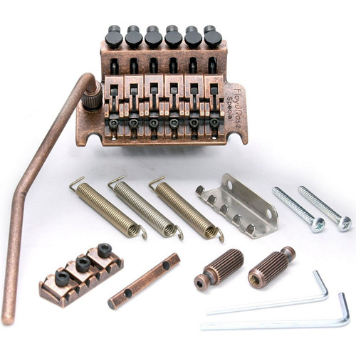 Floyd Rose FRTS7000LR3 Special Series Left-Handed Tremolo System with R3 Nut, Antique Bronze (Model pictured is right-handed)