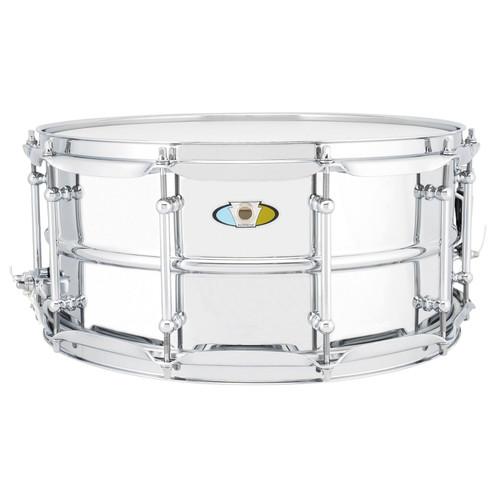 "Ludwig LU6514SL Supralite 6.5"" x 14"" Steel Snare Drum (LU6514SL)"