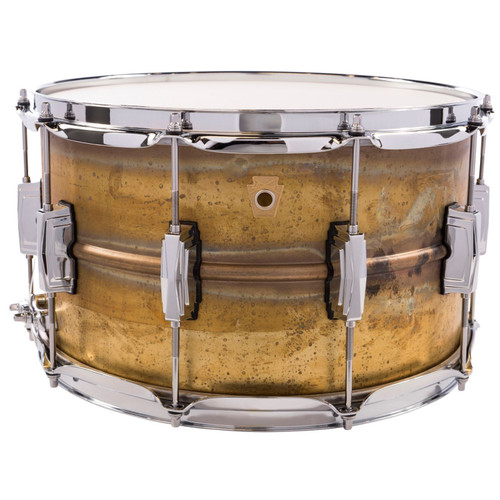 """Ludwig LB484R Raw Brass Phonic 8"""" x 14"""" Snare Drum with Imperial Lugs (LB484R)"""