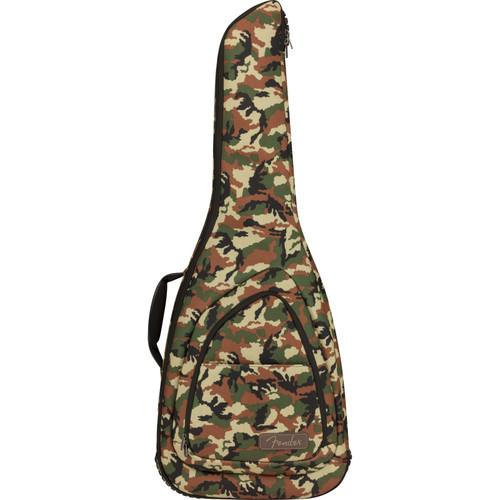 Fender FE920 Camo Electric Guitar Gig Bag with 20mm Padding, Woodland Camo (099-1512-476)