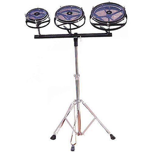 Coda DS-020 3-Piece Roto Tom Drum Set with Stand