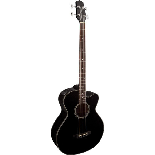 Takamine GB30CE-BLK 4-String Jumbo Acoustic Electric Bass Guitar, Black (GB30CE-BLK)