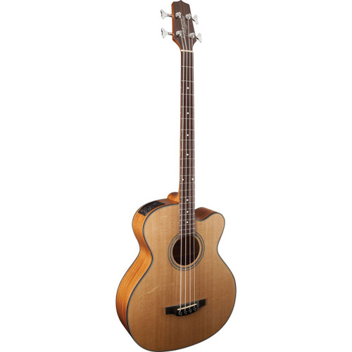 Takamine GB30CE-NAT 4-String Jumbo Acoustic Electric Bass Guitar, Natural (GB30CE-NAT)