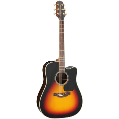Takamine GD51CE-BSB Dreadnought Cutaway Acoustic Electric Guitar, Brown Sunburst