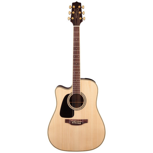 Takamine GD51CELH-NAT Left-Handed Dreadnought Cutaway Acoustic-Electric Guitar, Natural (GD51CELH-NAT)