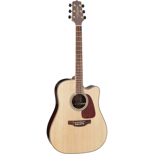 Takamine GD93CE-NAT Solid Top Acoustic Electric Guitar, Rosewood/Quilt Maple Back