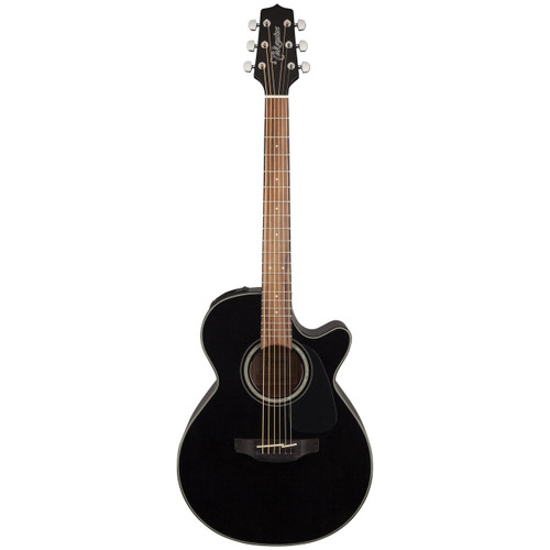 Takamine GF30CE-BLK FXC Cutaway Acoustic Electric Guitar, Black